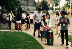 Japanese exchange students from Fujisawa, Japan, arrived in Windsor