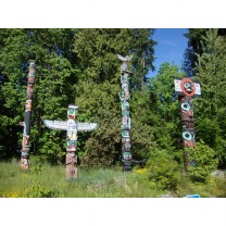 Totems in Stanley Park, Vancouver, British Columbia